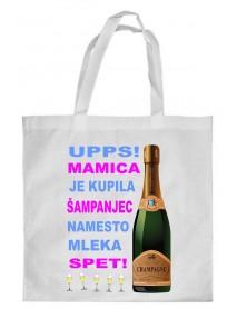 Nakupovalna vrečka šampanjec