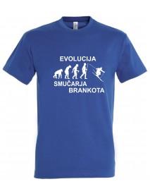Majica evolucija - smučar
