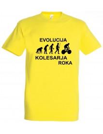 Majica evolucija - kolesarja