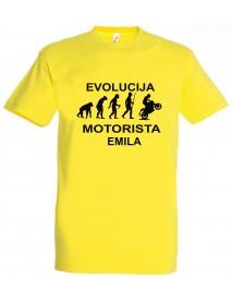 Majica evolucija - motorist