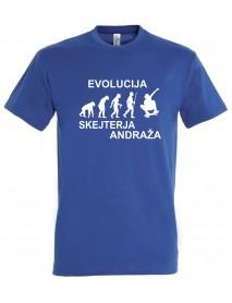 Majica evolucija - skejter