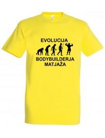 Majica evolucija - bodybuilder