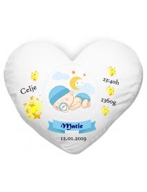 Blazinica srce rojstvo  - fant