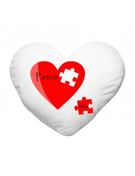Blazinica srce košček srca