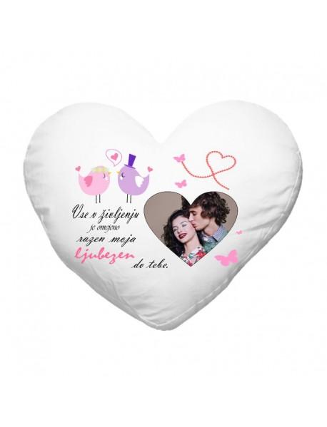 Blazinica srce ljubezen